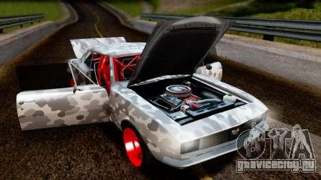 Chevrolet Camaro SS Camo Drift для GTA San Andreas вид сзади