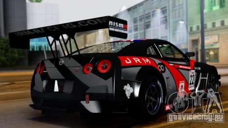 Nissan GT-R (R35) GT3 2012 PJ3 для GTA San Andreas вид изнутри