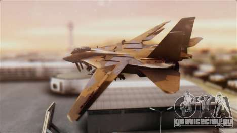 F-14A Tomcat NSAWC Brown для GTA San Andreas вид слева