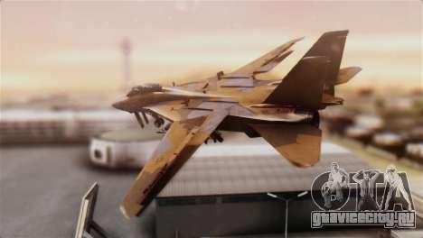 F-14A Tomcat NSAWC Brown для GTA San Andreas вид слева
