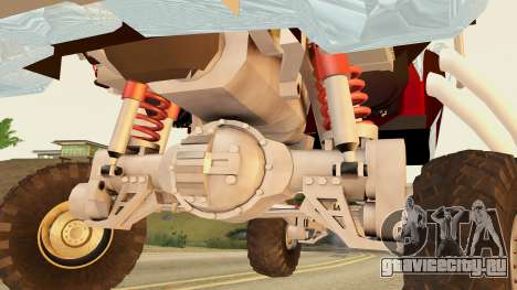 Gigahorse from Mad Max Fury Road для GTA San Andreas вид сзади слева