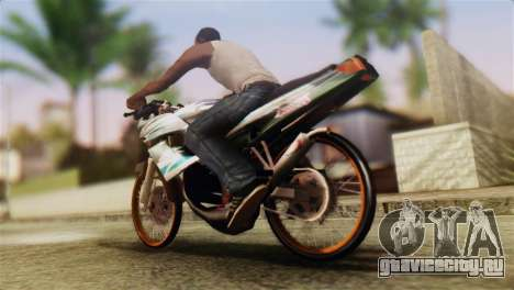 Yamaha Touch 125 Drag для GTA San Andreas вид слева