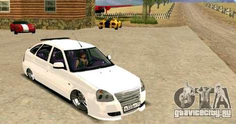 ВАЗ 2172 Тюнинг для GTA San Andreas вид сзади слева