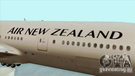 B777-200ER Air New Zealand Black Tail Livery для GTA San Andreas вид сзади