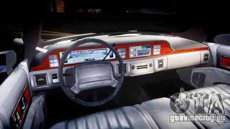 Chevrolet Caprice Chicago Police [ELS] для GTA 4 вид сзади