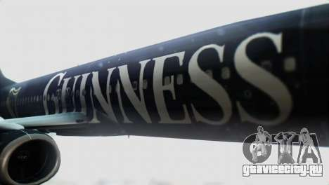 Boeing 737-800 Ryanair Guinness для GTA San Andreas вид сзади