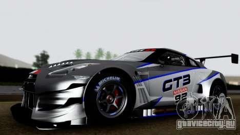 Nissan GT-R (R35) GT3 2012 PJ3 для GTA San Andreas вид сзади слева