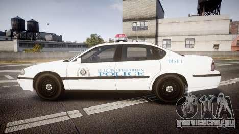 Chevrolet Impala Metropolitan Police [ELS] Pat для GTA 4 вид слева