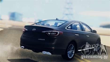 Hyundai Sonata 2015 для GTA San Andreas вид слева