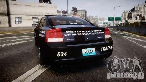 Dodge Charger Metropolitan Police [ELS] для GTA 4 вид сзади слева