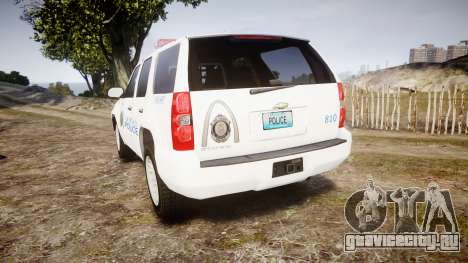 Chevrolet Tahoe Metropolitan Police [ELS] для GTA 4 вид сзади слева