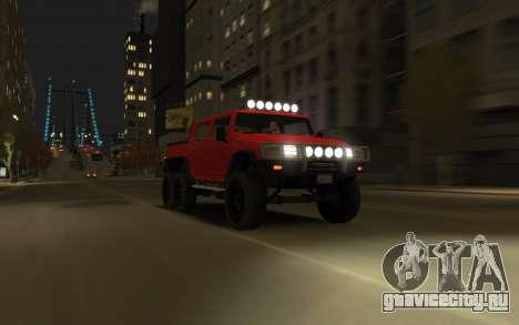 Mammoth Patriot 6x6 для GTA 4 вид сзади слева