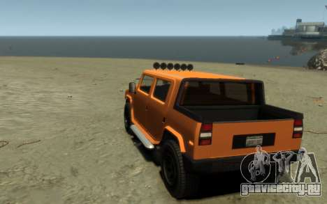 Mammoth Patriot Pickup для GTA 4 вид изнутри