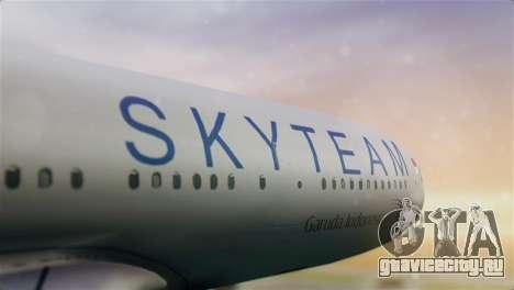 Airbus A330-200 Garuda Indonesia Sky Team для GTA San Andreas вид сзади