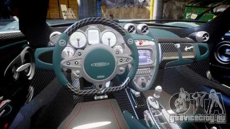 Pagani Huayra для GTA 4 вид сзади