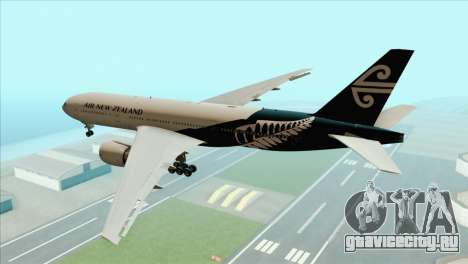 B777-200ER Air New Zealand Black Tail Livery для GTA San Andreas вид слева