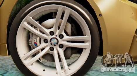 BMW M4 2015 IVF для GTA San Andreas вид сзади слева