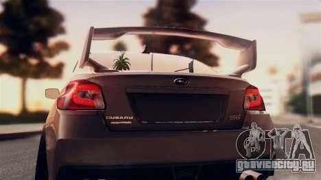 Subaru Impreza WRX STI 2015 для GTA San Andreas вид справа