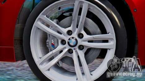 BMW M4 2015 HQLM для GTA San Andreas вид сзади слева