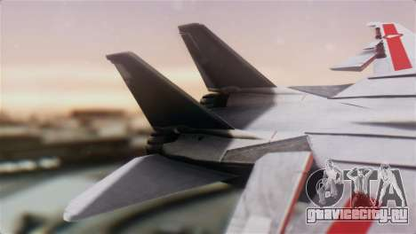 F-14D Tomcat Macross Red для GTA San Andreas вид сзади слева