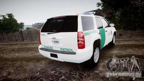 Chevrolet Tahoe Border Patrol [ELS] для GTA 4 вид сзади слева