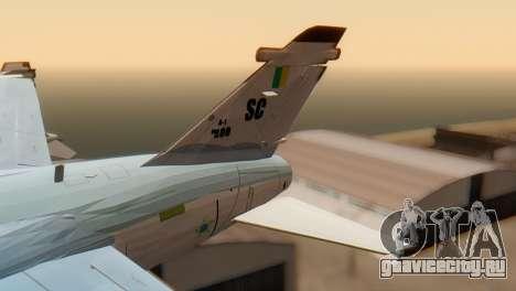 Embraer A-1 AMX FAB для GTA San Andreas вид сзади слева