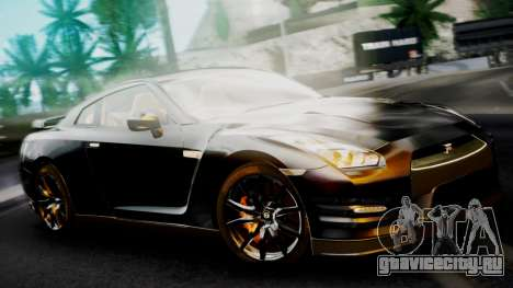 Nissan GT-R 2015 для GTA San Andreas вид слева