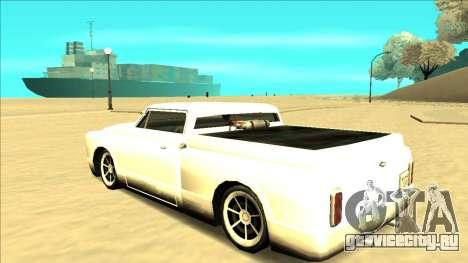 Slamvan Final для GTA San Andreas вид снизу