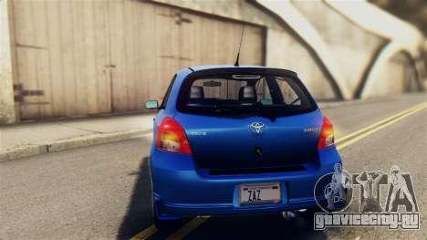 Toyota Yaris S 2008 для GTA San Andreas вид сбоку