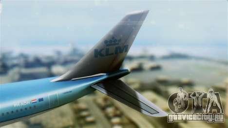 Airbus A330-200 KLM New Livery для GTA San Andreas вид сзади слева