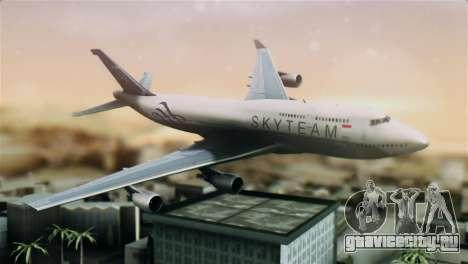 Boeing 747-400 Garuda Indonesia Sky Team для GTA San Andreas