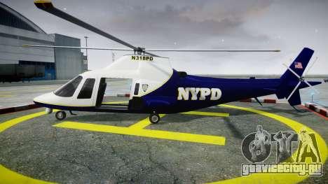 Buckingham Swift NYPD для GTA 4 вид слева