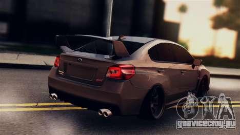 Subaru Impreza WRX STI 2015 для GTA San Andreas вид слева
