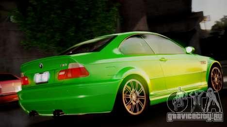 BMW M3 E46 v2 для GTA San Andreas вид слева