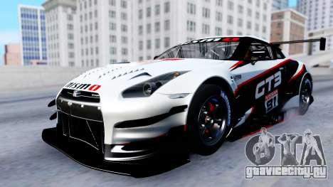 Nissan GT-R (R35) GT3 2012 PJ2 для GTA San Andreas вид снизу