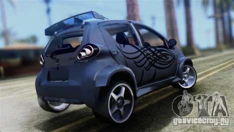 Toyota Aygo Sporting для GTA San Andreas вид слева