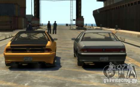 Vapid Fortune Drift для GTA 4 вид изнутри
