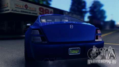GTA 5 Enus Windsor IVF для GTA San Andreas вид сзади слева
