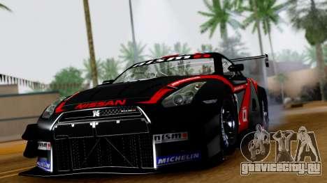 Nissan GT-R (R35) GT3 2012 PJ3 для GTA San Andreas вид сзади