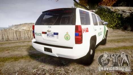 Chevrolet Tahoe Niagara Falls Parks Police [ELS] для GTA 4 вид сзади слева