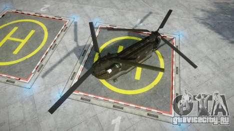 Boeing CH-47G Chinook [EPM] для GTA 4 вид сзади слева