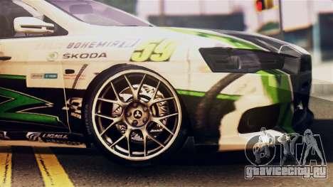 Mitsubishi Lancer Evo X 2011 Rally Bohemia для GTA San Andreas вид сзади