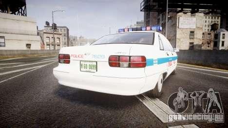 Chevrolet Caprice Chicago Police [ELS] для GTA 4 вид сзади слева