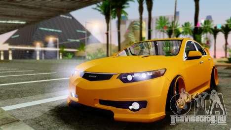 Acura TSX Hellaflush 2010 для GTA San Andreas вид слева