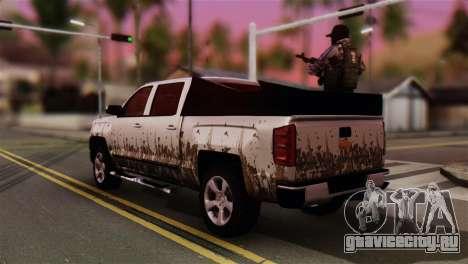Chevrolet Silverado Enlodada для GTA San Andreas вид слева