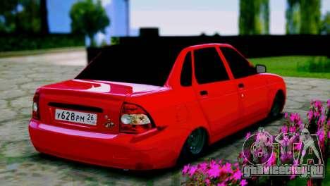 Lada 2170 Priora Спартак Москва для GTA San Andreas вид сзади слева