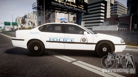 Chevrolet Impala Metropolitan Police [ELS] Traf для GTA 4 вид слева
