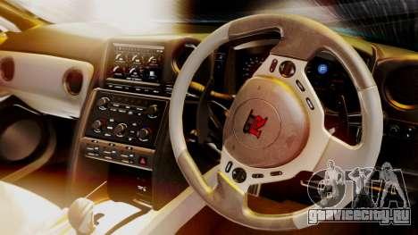 Nissan GT-R 2015 для GTA San Andreas вид сзади