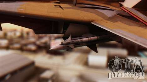 F-14A Tomcat NSAWC Brown для GTA San Andreas вид справа