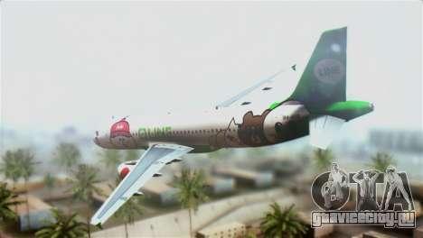 Airbus A320-200 AirAsia Line для GTA San Andreas вид слева